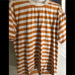 Men's Guess Los Angeles Stripe Tee- Size Large